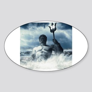 Neptune Rising from the Waves Sticker