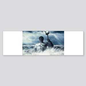 Neptune Rising from the Waves Bumper Sticker