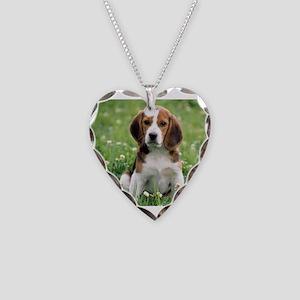Beagle Necklace Heart Charm