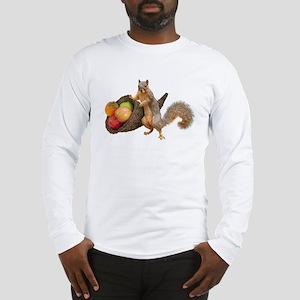 Squirrel with Cornucopia Long Sleeve T-Shirt