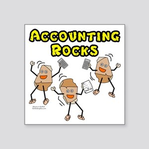 Accounting Rocks Sticker