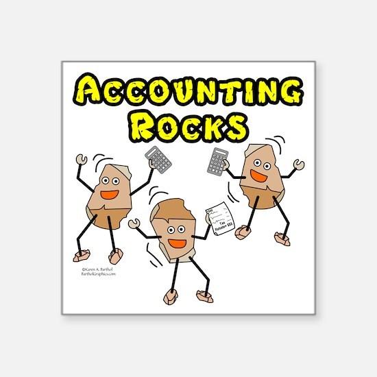 Accounting Rocks Sticker