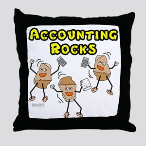 Accounting Rocks Throw Pillow