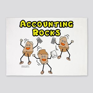 Accounting Rocks 5'x7'Area Rug