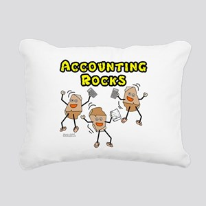 Accounting Rocks Rectangular Canvas Pillow