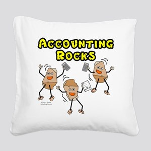 Accounting Rocks Square Canvas Pillow