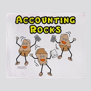 Accounting Rocks Throw Blanket