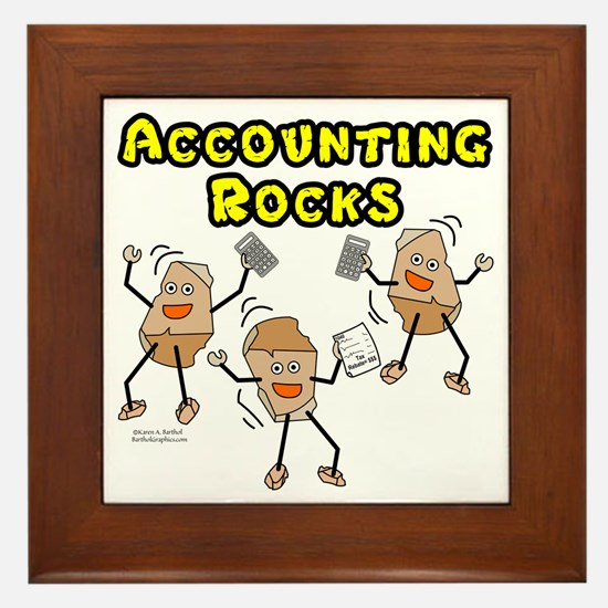 Accounting Rocks Framed Tile