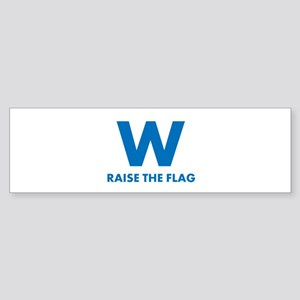 W Raise the Flag Bumper Sticker