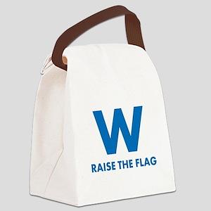W Raise the Flag Canvas Lunch Bag