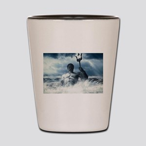 Neptune Rising from the Waves Shot Glass