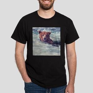 Fishing Bear Dark T-Shirt