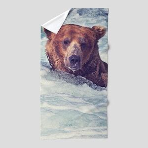 Fishing Bear Beach Towel