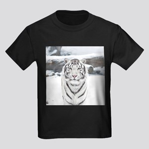 White Tiger Kids Dark T-Shirt