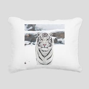 White Tiger Rectangular Canvas Pillow