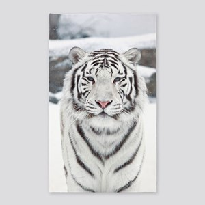 White Tiger Area Rug