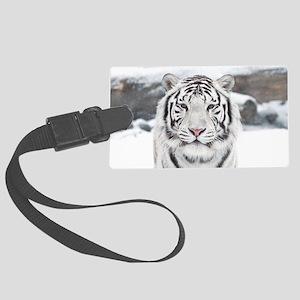 White Tiger Large Luggage Tag