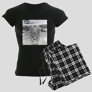 White Tiger Women's Dark Pajamas