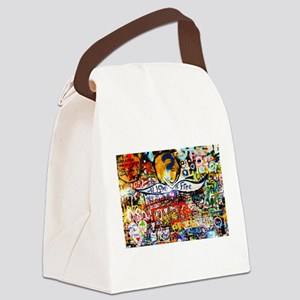 All Love is Free Graffiti Canvas Lunch Bag