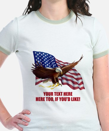 PERSONALIZED AMERICAN FLAG EAGL T