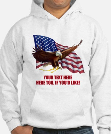 PERSONALIZED AMERICAN FLAG EAGLE Jumper Hoody