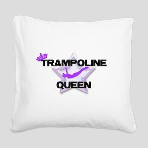 Trampoline Queen Gymnastics Square Canvas Pillow