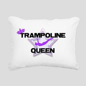 Trampoline Queen Gymnast Rectangular Canvas Pillow