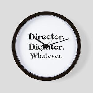director dictator Wall Clock