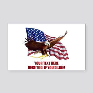 PERSONALIZED AMERICAN FLAG EA Rectangle Car Magnet
