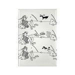 Remote Control Cartoon Rectangle Magnet (10 pack)