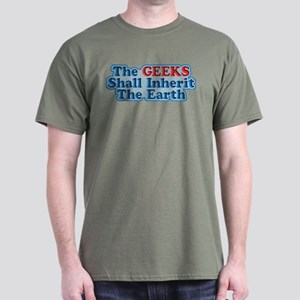 Geeks Shall Inherit The Earth Dark T-Shirt