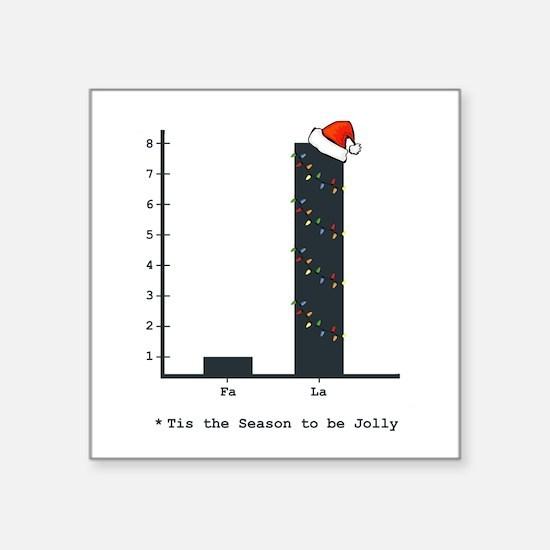 "Cute Geek christmas Square Sticker 3"" x 3"""
