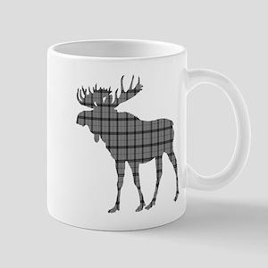 Moose: Grey Plaid Mug