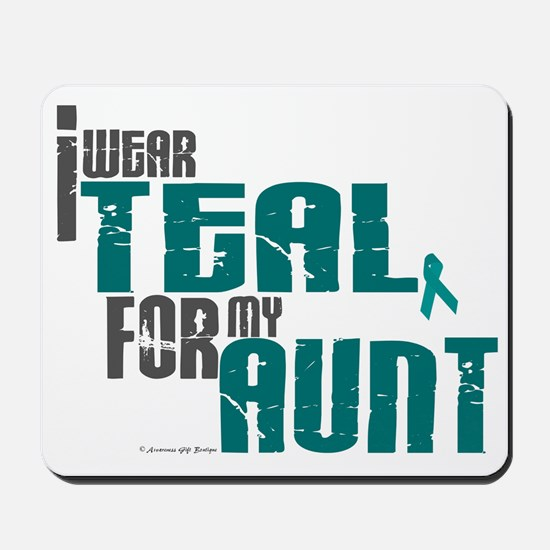 I Wear Teal For My Aunt 6 Mousepad
