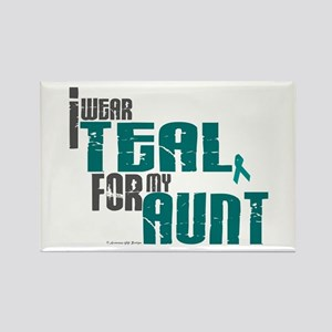 I Wear Teal For My Aunt 6 Rectangle Magnet