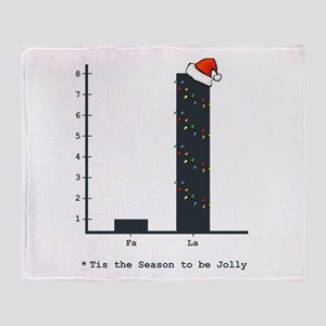 Christmas Bar Graph Throw Blanket