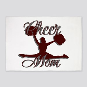 CHEER MOM 2 CRIMSON 5'x7'Area Rug