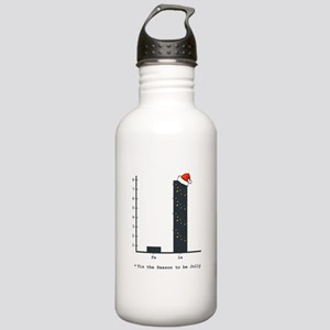 Christmas Bar Graph Stainless Water Bottle 1.0L