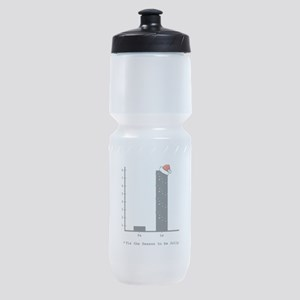 Christmas Bar Graph Sports Bottle