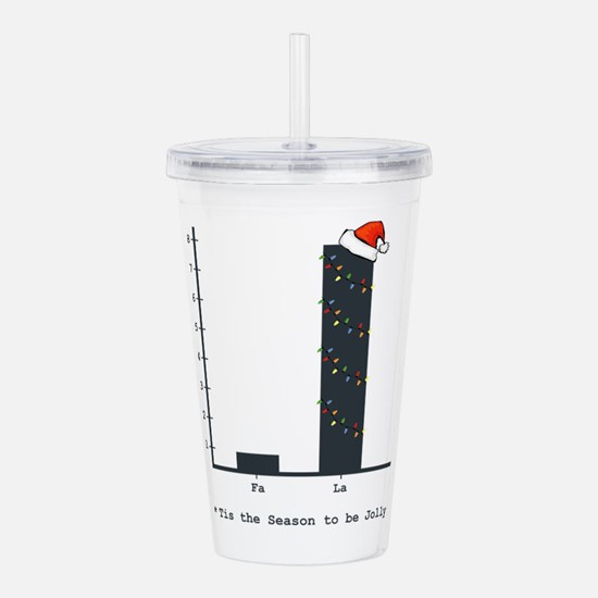 Christmas Bar Graph Acrylic Double-wall Tumbler