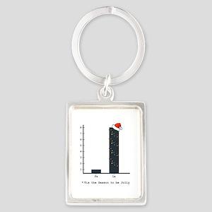 Christmas Bar Graph Keychains