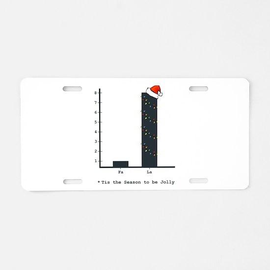 Christmas Bar Graph Aluminum License Plate