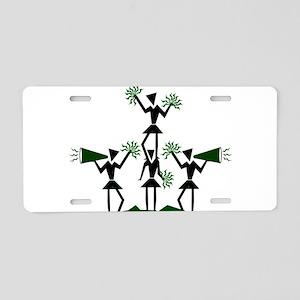 pe03202_green Aluminum License Plate
