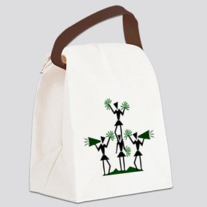 pe03202_green Canvas Lunch Bag