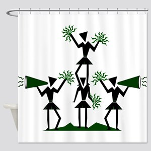 pe03202_green Shower Curtain
