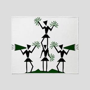 pe03202_green Throw Blanket