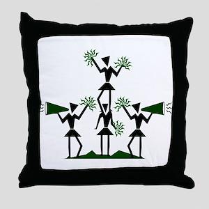 pe03202_green Throw Pillow