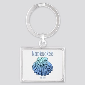 Nantucket Est. 1641 Scallop Shell Keychains