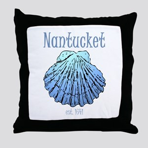 Nantucket Est. 1641 Scallop Shell Throw Pillow