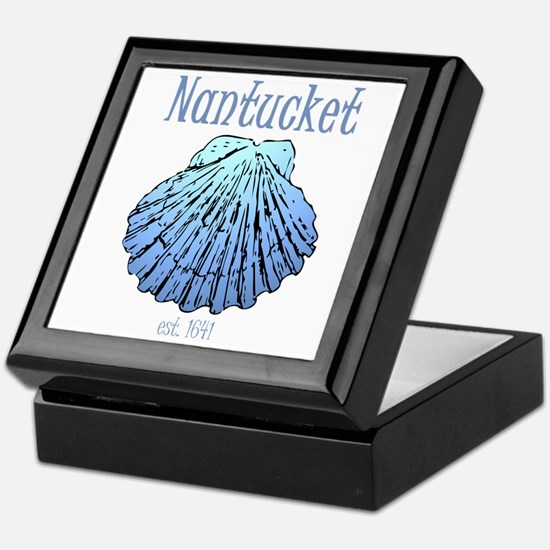 Nantucket Est. 1641 Scallop Shell Keepsake Box